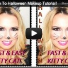 Kitty Cat, How To Halloween Makeup Tutorial!