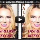 Kitty Cat, How To Halloween Makeup Tutorial!