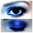 Luminescent Dark Blue Shadow