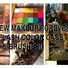 Makeup Forever's NEW Flash Case, Colors & Brushes!